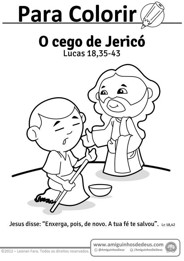 Resultado De Imagem Para O Cego De Jerico Com Imagens Colorir