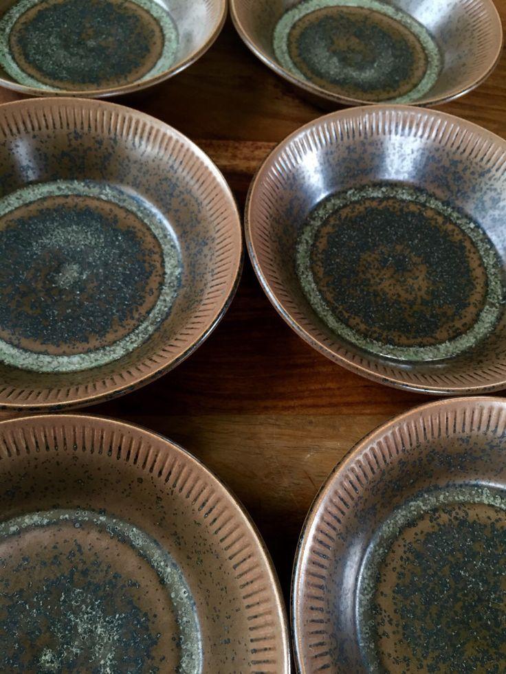 Knabstrup Denmark Nøddebo Stentoj Bowls - Set of 6 by greencycledesignLA on Etsy https://www.etsy.com/listing/292526079/knabstrup-denmark-noddebo-stentoj-bowls