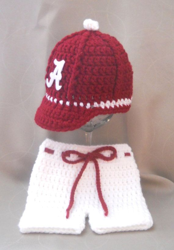 University of Alabama Crimson Tide Inspired Crochet by CDBSTUDIO, $47.99
