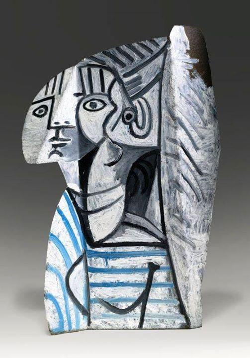 Sylvette by Pablo Picasso, 1954. Painted metal, height 70 cm. ~via Arte Moderna, FB