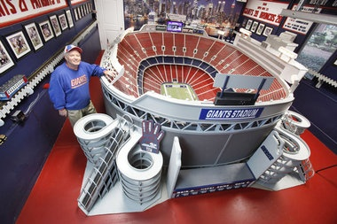 Fan builds scale model of Giants Stadium
