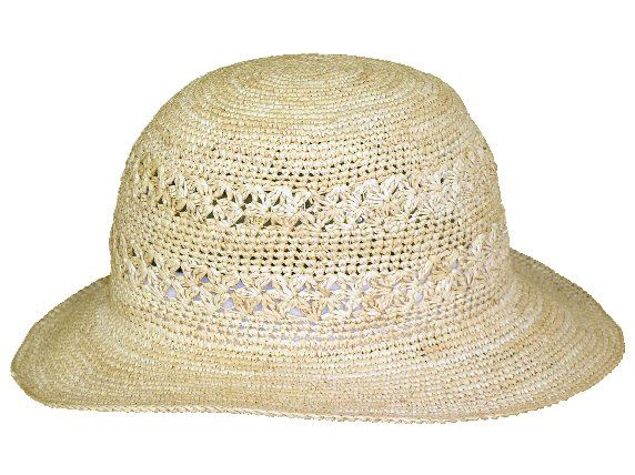 """""""Birgit"""" of MAYSER´s summer collection. wonderful light womens hat made of crocheted straw."""