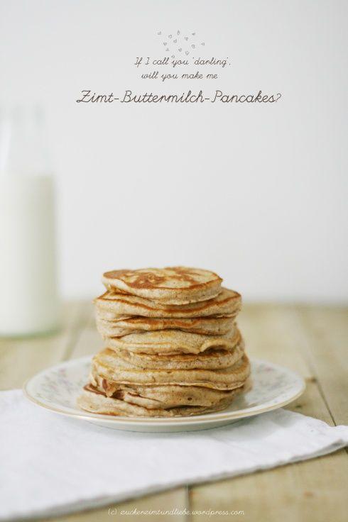 Zimt-Pancakes mit Buttermilch, so gehts! #Rezept #breakfast #Frühstück