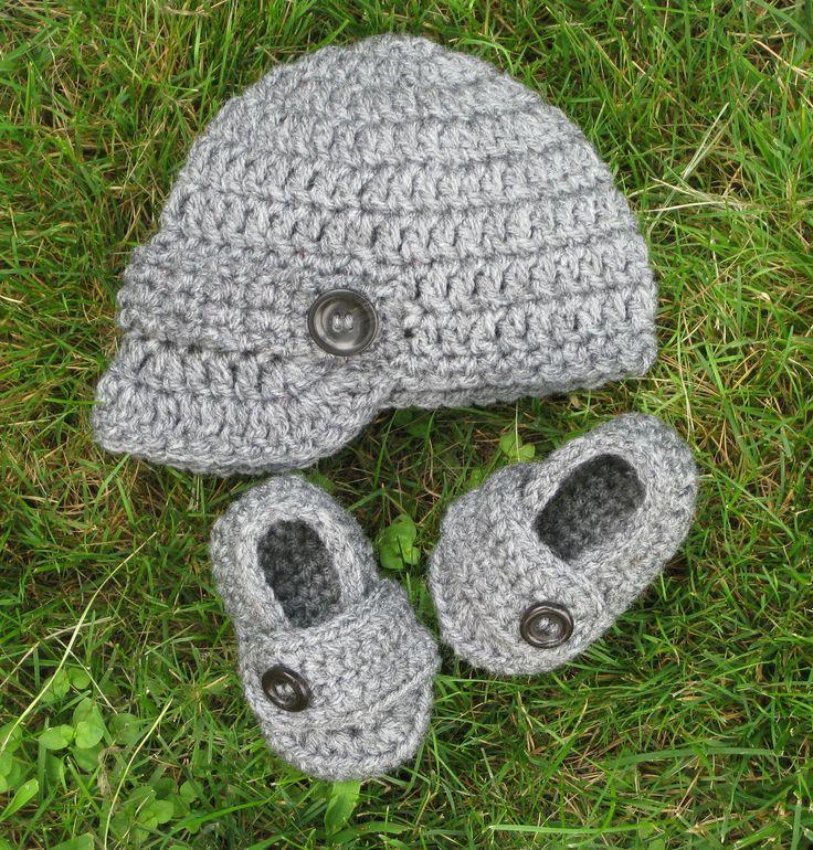Free Crochet Pattern Baby Newsboy Hat