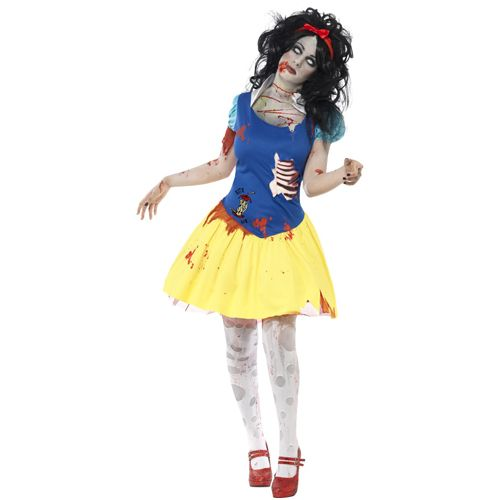 Zombie Snow Fright Costume, Dress With Latex Chest and Headband. http://www.novelties-direct.co.uk/product.php?productid=15085&cat=880&page=4