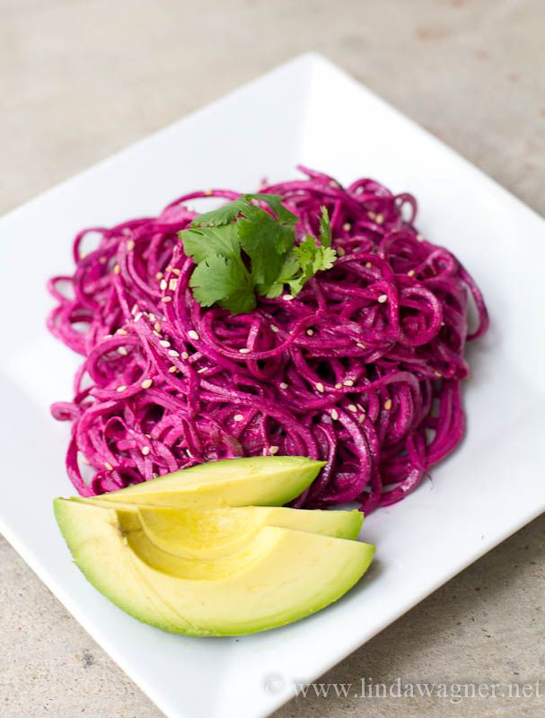 Easy, yummy spiralized beet salad and the many reasons why you should be eating beets on a regular basis!!