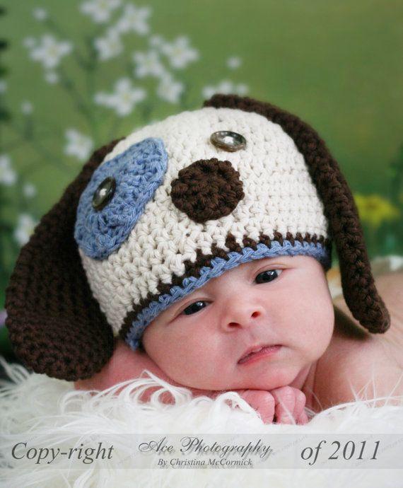 INSTANT DOWNLOAD, Puppy Dog Crochet Pattern, 010 PDF