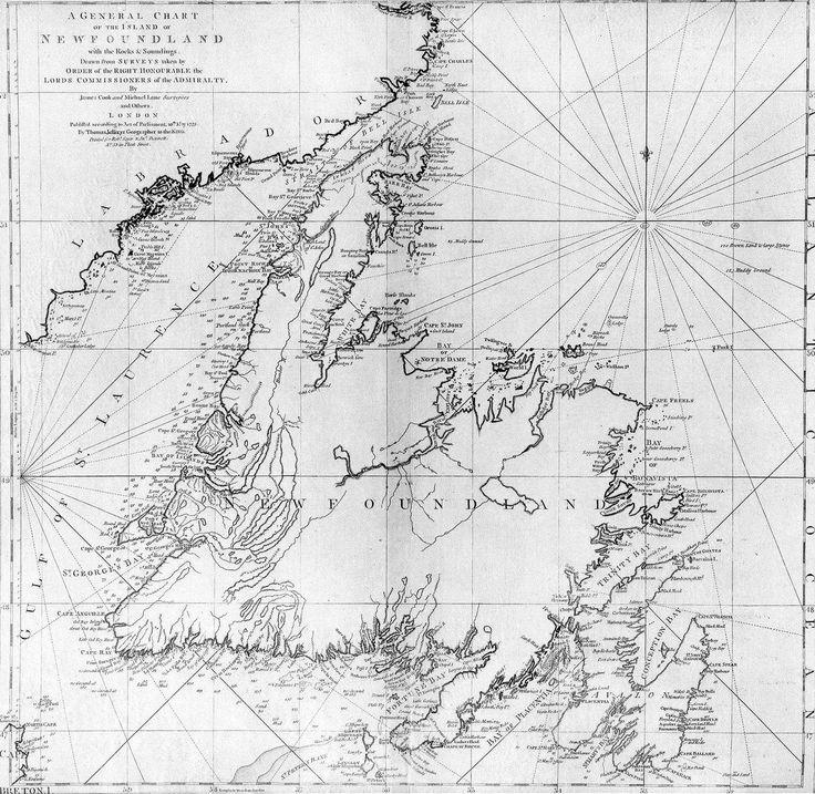 James Cook's Newfoundland Map