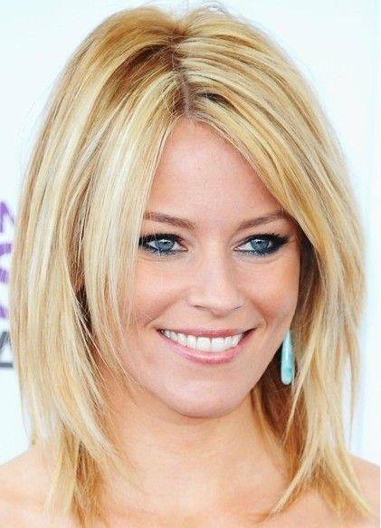 Medium Length Hair, Blonde Smooth Straight Hairstyle