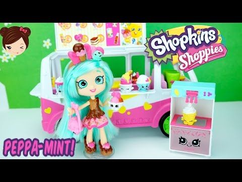 Shopkins Muñeca Peppa Mint Juega con Camion de Helados de - Juguetes Shopkins…