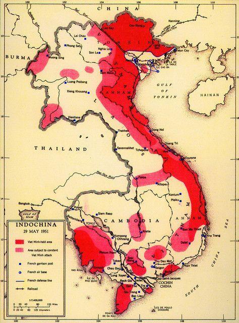 Vietnamkrieg Karte.La Cia Déclassifie Des Cartes Qui Offrent Une Vision Unique De Son