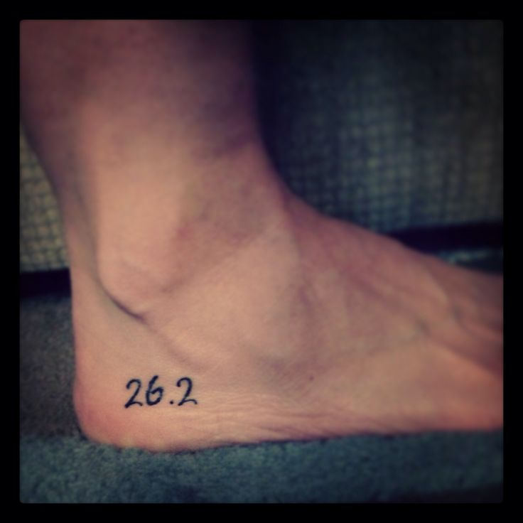 26.2... It's more than a distance. It's dedication. It's prayer. It's hard work. It's focus. It's belief in yourself. It's a journey that isn't over at the finish line. #26.2 #tattoo #running
