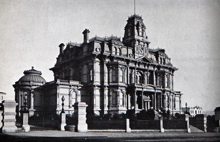Charles Crocker Mansion, Nob Hill, San Francisco, CA destroyed in San Francisco earthquake 1906