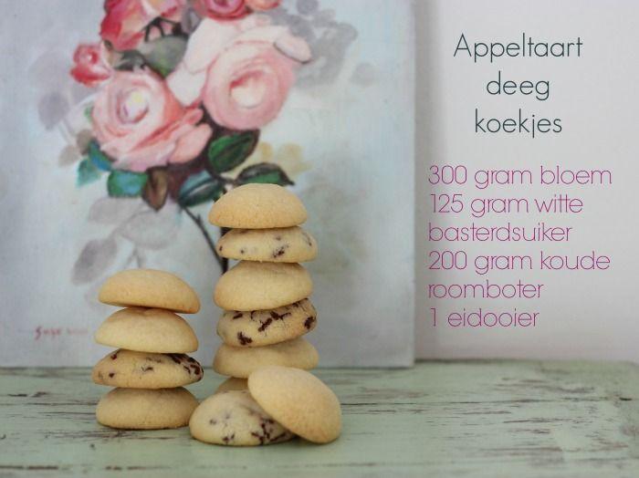 Elke dag zaterdag: Appeltaartdeeg koekjes