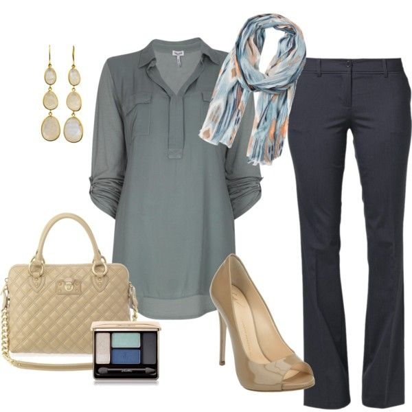Change the pants to jeans and the heels to flats, and I could wear this to work.