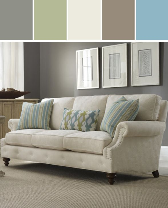 Sam moore emma sofa designed by wayfair via stylyze home - Living room throw blankets ...