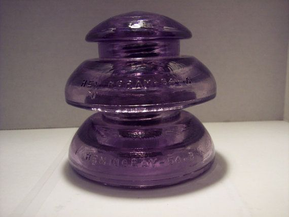 M-15 CD 194/195 Hemingray purple two pice by InsulatorMasters