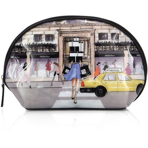 Saks Fifth Avenue Collection #SaksStyleStore Front Cosmetic Case (66 BRL) ❤ liked on Polyvore featuring beauty products, beauty accessories, bags & cases, cosmetic purse, wash bag, toiletry kits, makeup bag case and make up purse