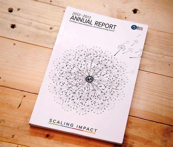 Contoh Desain Gambar Buku Laporan Tahunan - RMI Annual Report 2013 oleh Chris Rowe
