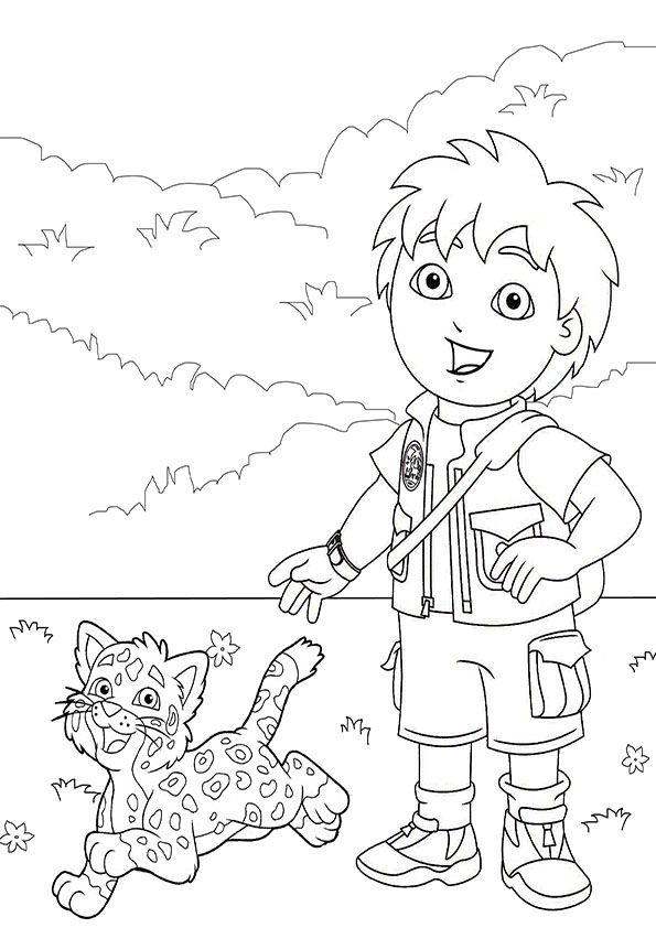 Go Diego Coloring Page 7 595x