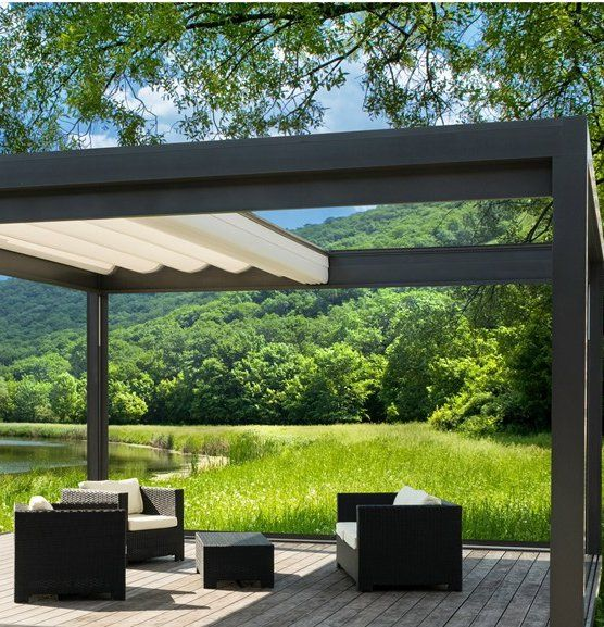 Large-area folding awning MELANO by STOBAG Italia