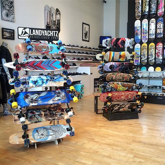 New arrivals from @landyachtzlongboards available at #PistoleBoardshop new @hawgswheels and slide gloves now in stock