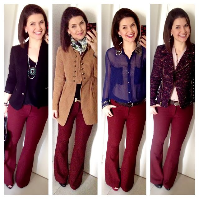 Ouse ser quem você é: Meus looks com calça burgundy/vinho