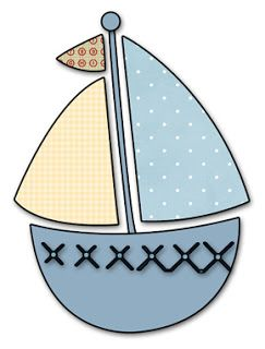 Baby blue and yellow sailboat to go with rocket ship for scrapbooking, crafts, cards  in a free template or digital download svg and knk for cutter available