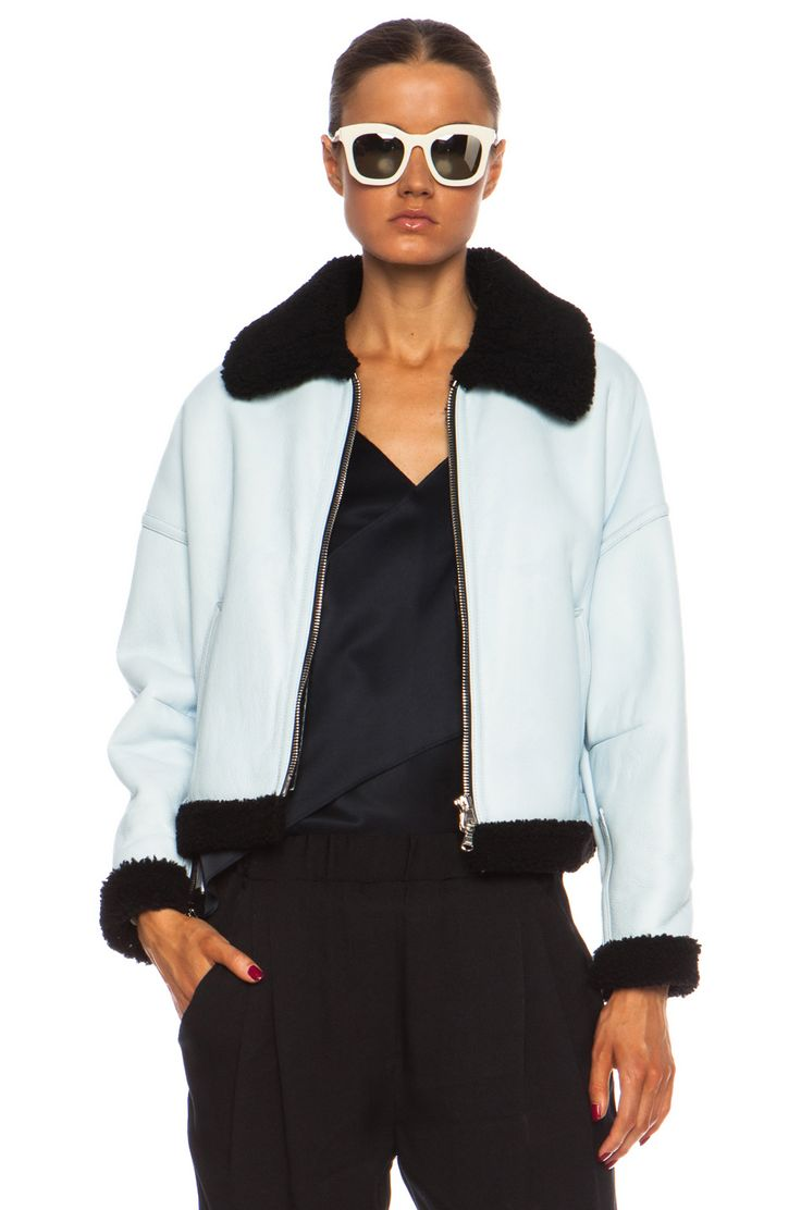 phillip lim off he wall dolman shearling