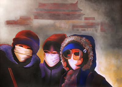 GaeTano and Valentina, ISTANTANEA/SELFIE, © 2012, acrilico su tela, 140 x 100 cm.  #art #painting #arts #GaeTanoAndValentina #SCENOGRAPH2ART #GaeTanoeValentina #visualart #canvas #sem #AcrylicOnCanvas #acrylic #peinture #ceruleo #pittura #dipinti #monza #italy #ScenographTwoArt