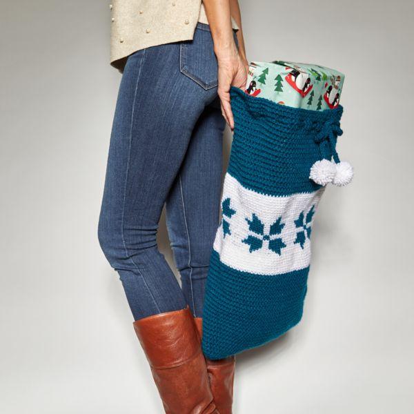 Snowflake Present Sack Crochet Pattern
