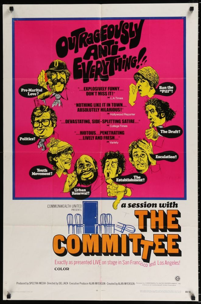 Committee, The (1969) Hippy counter-culture rebellion comedy! Howard Hesseman