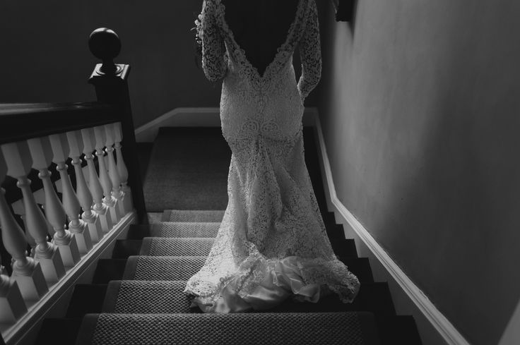 Documentary wedding photography of the bride in her wedding dress at The Pig Hotel in Bath, England