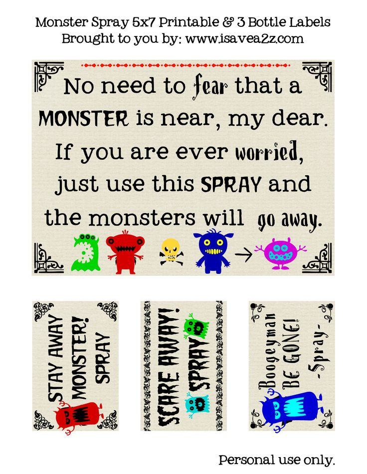 """oh yes. or perhaps """"sparkle spray the scary stuff away"""""""