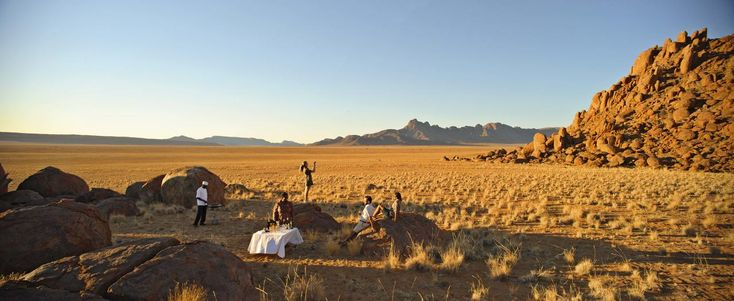 Drinks in the Namib Desert. Ker & Downey Africa Property of the Month: Sossusvlei Desert Lodge #luxurytravel #namibia