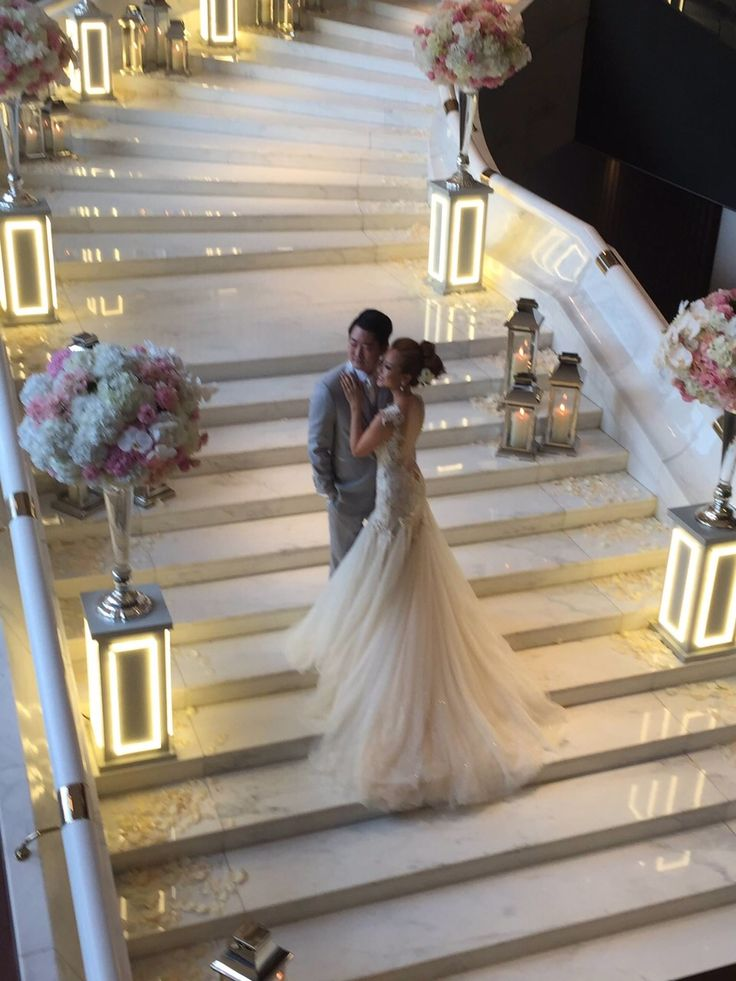 ABHL bride, Ms Vivian Chan in Galia Lahav's Giselle Gown on her wedding day.
