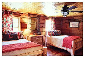 356 best log cabin decor images on pinterest log cabins - Log cabin bedroom decorating ideas ...