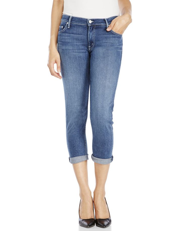Mother Woman Distressed Faded Mid-rise Flared Jeans Mid Denim Size 24 Mother 9rOXx
