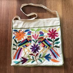 Otomi hand embroidered tote