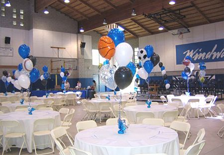 Sports balloon decorations los angeles balloon bouquets for Balloon decoration los angeles