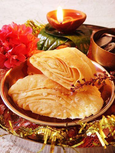 Diwali 2013 – Khaja/ Indian Mille-Feuille   Heaven on a Spoon
