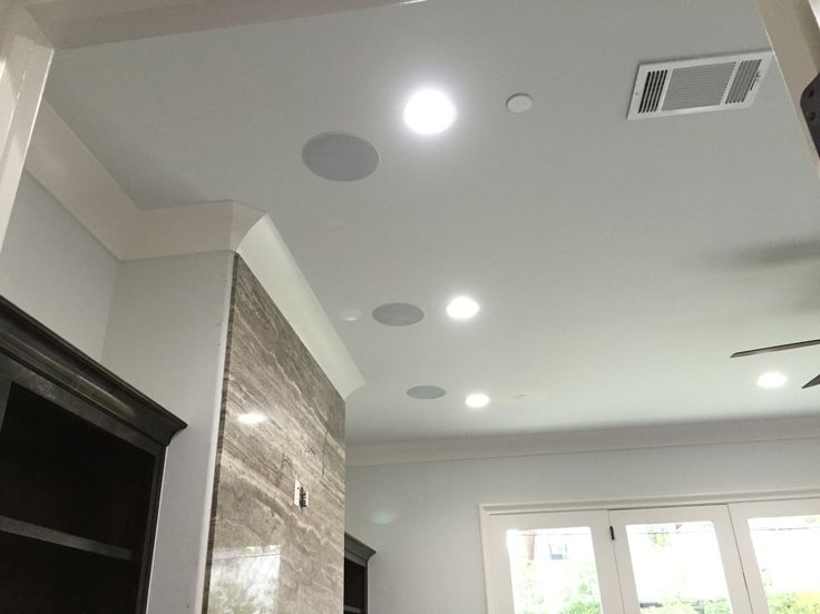 In ceiling speakers for a 5.1 surround system.