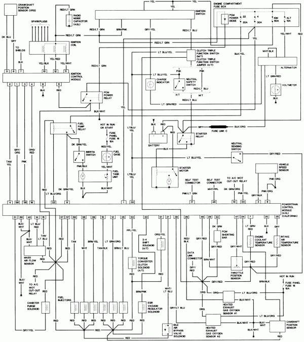 94 Ford Ranger Engine Wiring Diagram, 1993 Ford Ranger Wiring Diagram