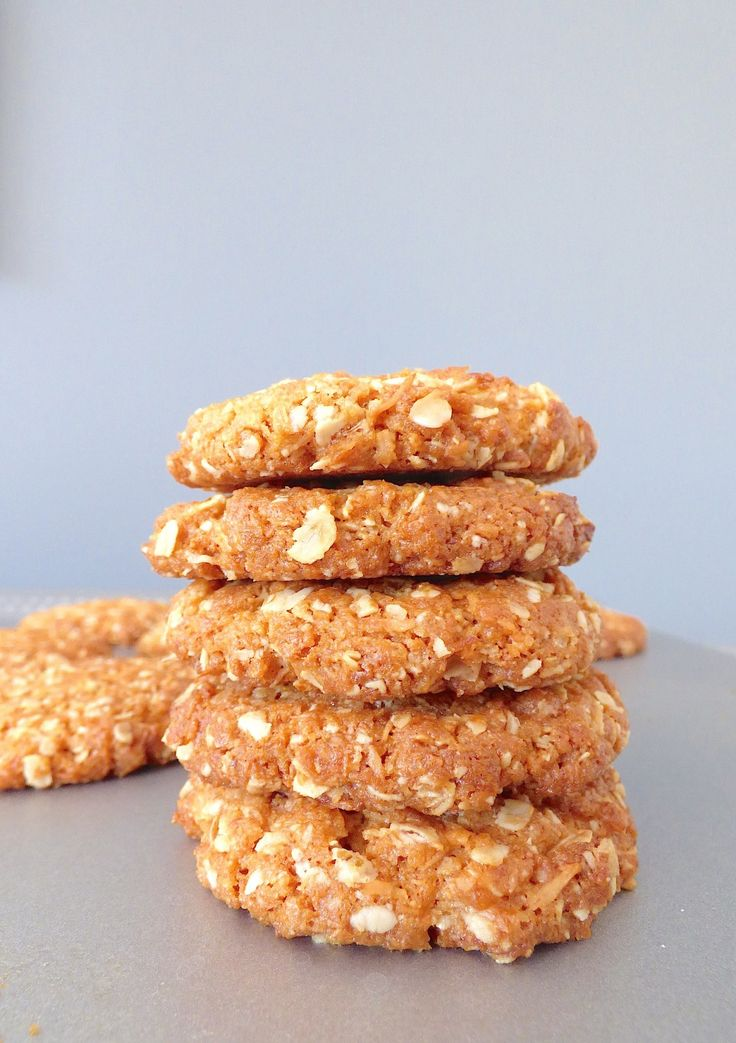 """Biscuits Anzac - Quel drôle de nom pour ces biscuits ? """"Australian and New Zealand Army Corps"""" voilà ce qui se cache derrière le mot ANZAC. Ces délicieux b"""