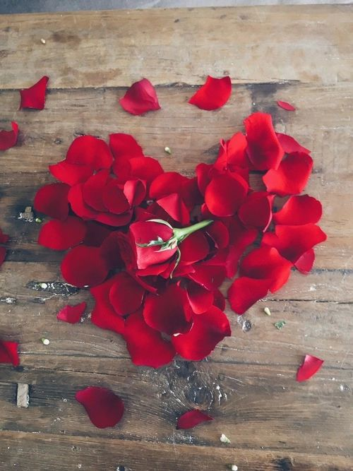 """ Red Rose Heart""  Poetry in images"