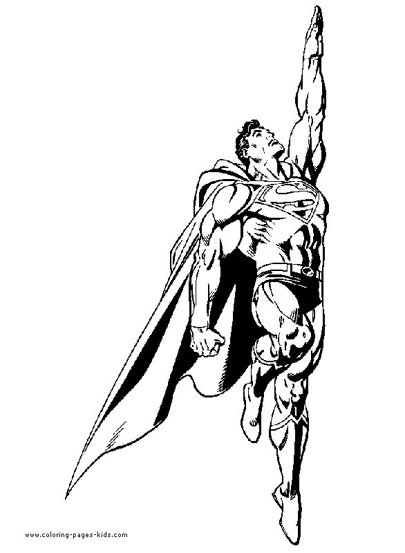 DC Superheroes Coloring Pages