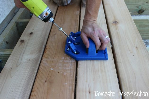Laying decking without any visible nails or screws