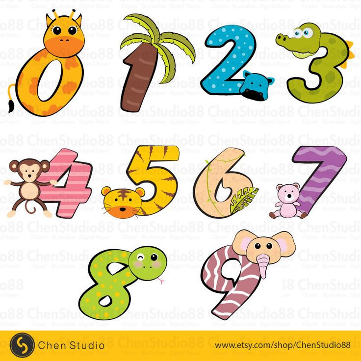Safari numbers vector - Digital Clipart - Instant Download - EPS, PNG files included by ChenStudio88 on Etsy https://www.etsy.com/listing/253283758/safari-numbers-vector-digital-clipart