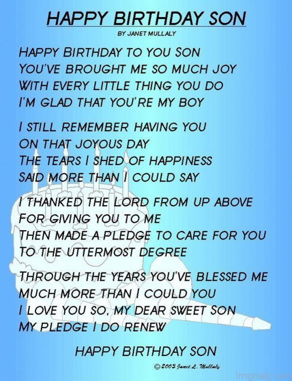 Happy Birthday Son Janet Mullaly Happy Birthday To You Son You Ve