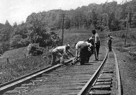 * A Railroad Section gang * Hungerford, Texas. 1917.